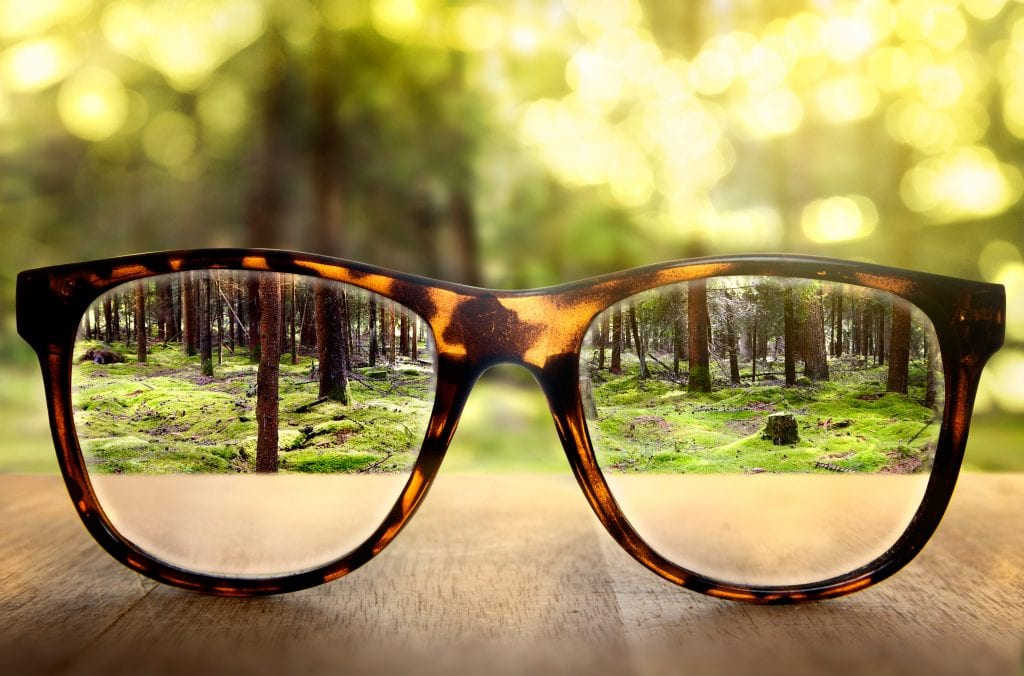 image of glasses making a clear view